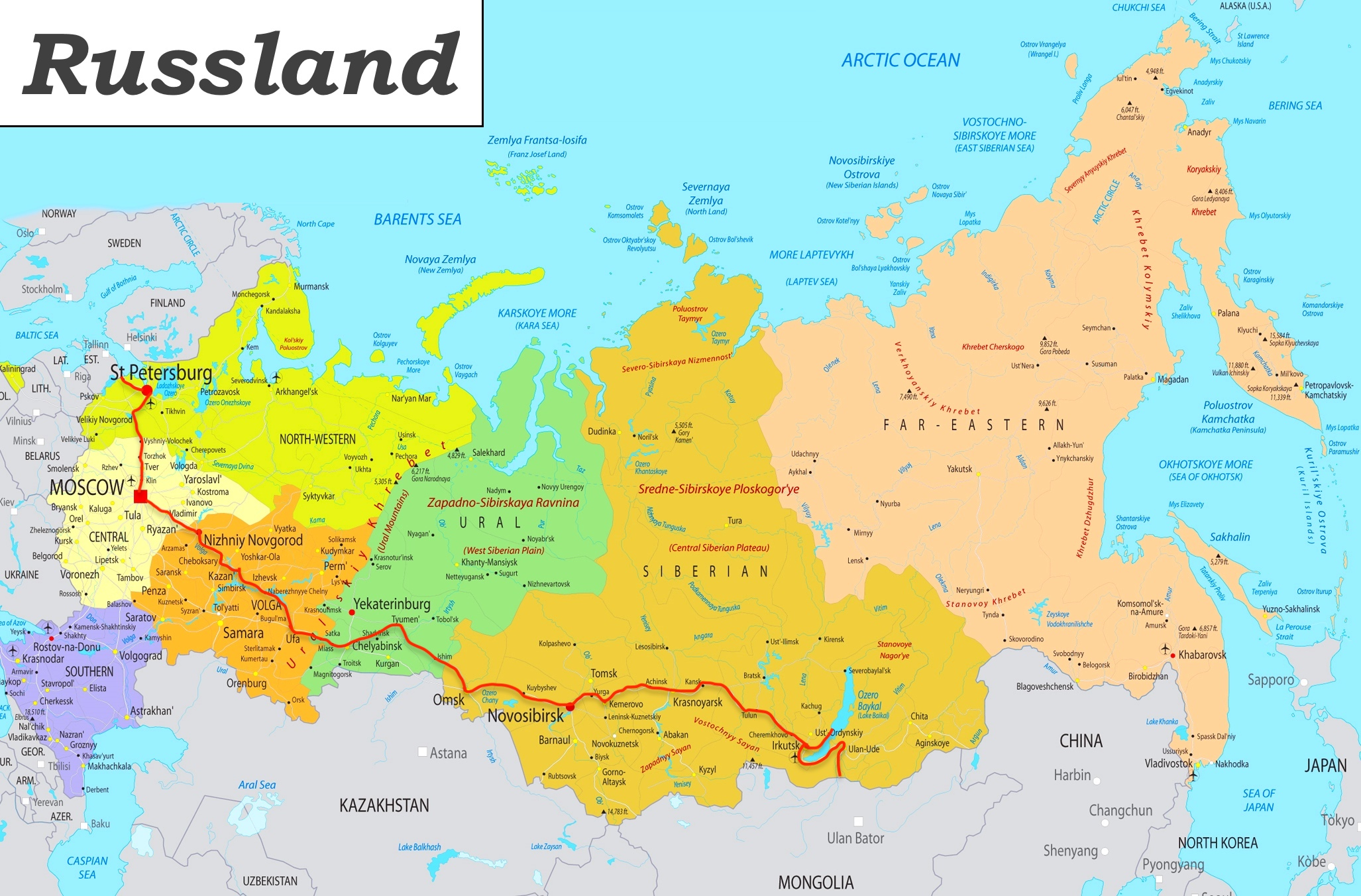russland route